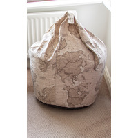 World Map Large Bean Bag
