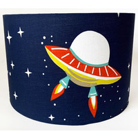 Navy Space, Large Fabric Light Shade