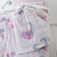 Catherine Lansfield Pink, Unicorn Dreams, Glow In the Dark, Fleece