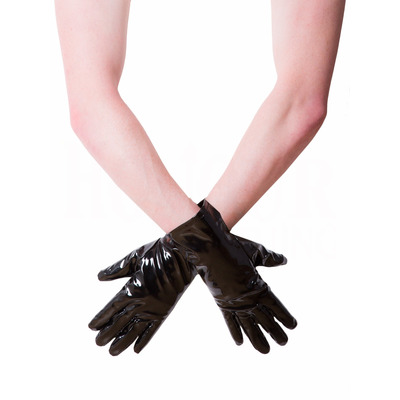 PVC Short Gloves Black