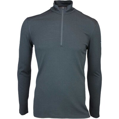 Icebreaker Oasis Half Zip Merino Golf Base Layer Black AW15
