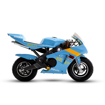 FunBikes MT4A 50cc 46cm Light Blue Mini Moto Racing Bike