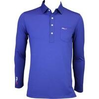 RLX LS Tech Pique Golf Shirt Driver Navy AW15