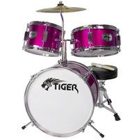 Jasmin 3 Piece Junior Drum Kit - Drum Set for Kids in Pink