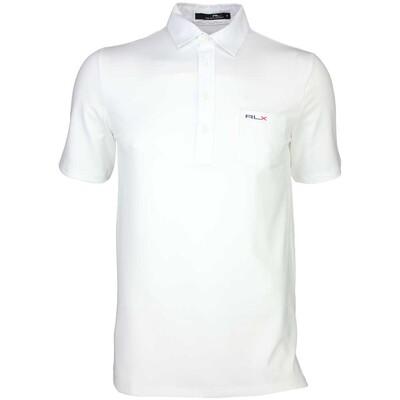 RLX Golf Shirt Woven Tech Pique Pure White SS16