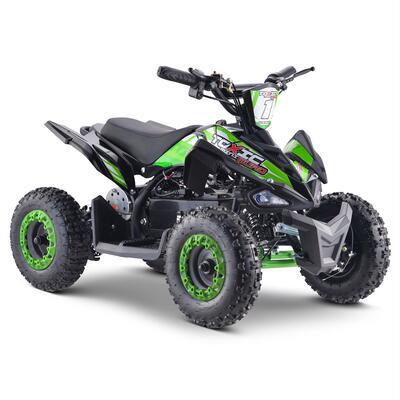 FunBikes Toxic 800w Black Green Kids Electric Mini Quad Bike