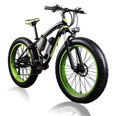 Electric Fat Bike 36V 350W Lithium Green
