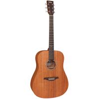 Vintage V501 Dreadnought Acoustic Series Guitar - Satin Mahogany