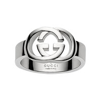 Gucci Silver Britt Sterling Silver Thin Band Ring