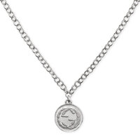 Gucci Aged Silver Coin Necklace