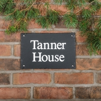 Rustic Slate House Sign - 2 line 30.5 x 20cm