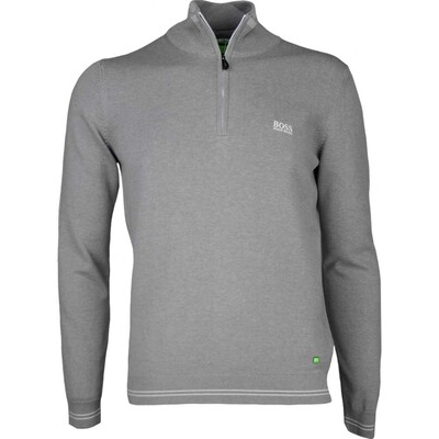 Hugo Boss Golf Jumper - Zime - Grey Melange PS17