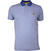 Lyle & Scott Golf Shirt - Haddington Houndstooth - Cobalt SS17