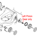 Click to view product details and reviews for Mountfield Left Pinion Gear 322570136 0.
