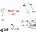 Click to view product details and reviews for Cobra Mower Mulch Plug Wedge 25232600101.