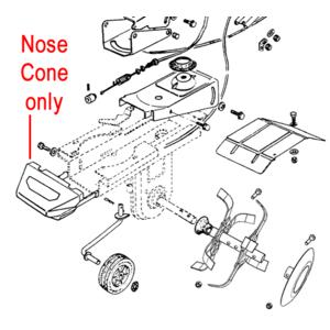Al Ko Cultivator Nose Cone Plastic Cover P109260005215