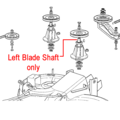 Click to view product details and reviews for Mountfield Deck Left Blade Shaft 125020802 0.