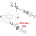 Click to view product details and reviews for Mountfield Lawnmower Wheel Stub Axle 381005141 0.