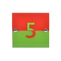 acrylic-house-number-in-red-green