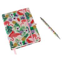 aroma-home-flamingo-notebook-pen-ruled