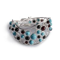 cherry-amber-turquoise-silver-dotted-bangle