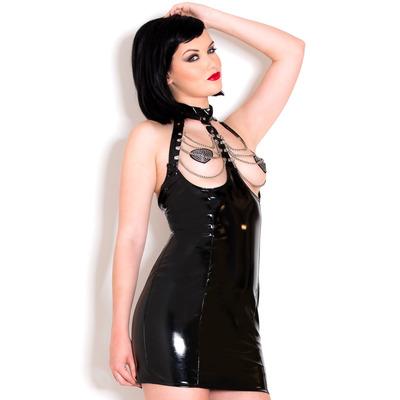 Pvc Chain Exposure Dress