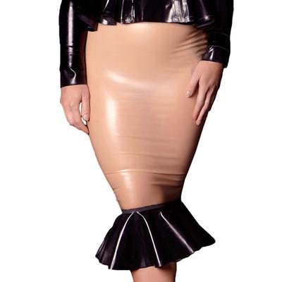 Hollywood Latex Frilled Skirt