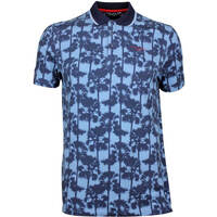 Ted Baker Golf Shirt - Golfed Tropical Print Polo - Blue AW17