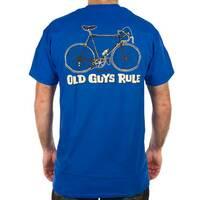 Old Guys Rule Men's Tee - Cranky, Blue, S
