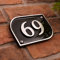 Aluminium Half Curved Rectangle House Number