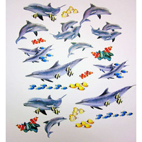 Dolphin, Childrens Bedroom Wall Stickers