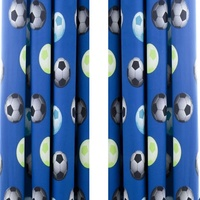 Catherine Lansfield Kids Football Curtains 66 x 72 inch Blue