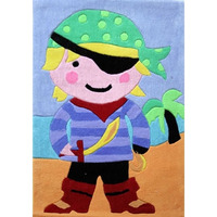 Kids Pirate Rug 70 x 100 cm