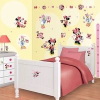 Minnie Mouse 79 Wall Stickers inc Height Chart