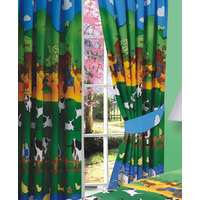 Farm Animal, 100% Cotton Curtains, 72s