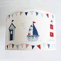 Nautical, Large Fabric Light Shade