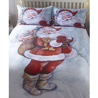 Jolly Santa / Father Christmas Single Bedding Set