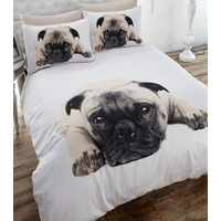 Pug King Size Bedding in 100% Brushed Cotton