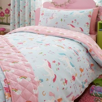 Unicorns and Rainbows Single Duvet