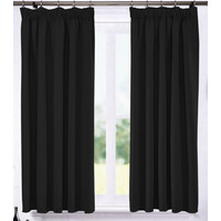 Ripon Thermal Blackout Curtains 66 x 72 - Black
