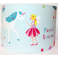 Magical Unicorn Large Fabric Light Shade - Blue