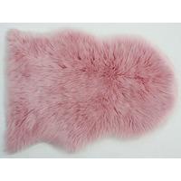 Faux Fur Sheepskin Rug in Pink - 60 x 90 cm