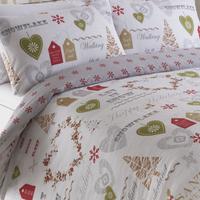 Simply Christmas King Size Bedding - Natural