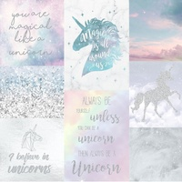Arthouse Believe In Unicorns, Glitter Wallpaper