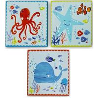 Underwater Fun Canvas Art - Set of 3