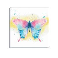 Watercolour Butterfly Canvas Art 40 x 40 cm