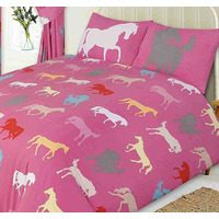 Horse King Size Bedding - Pink