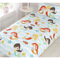Mermaid Friends Toddler Duvet Cover