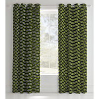 Catherine Lansfield Neon Football Easy Care Eyelet Curtains Yellow, 66 x 72 Inch