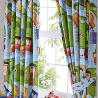 Toy Trains Blackout Curtains 54s